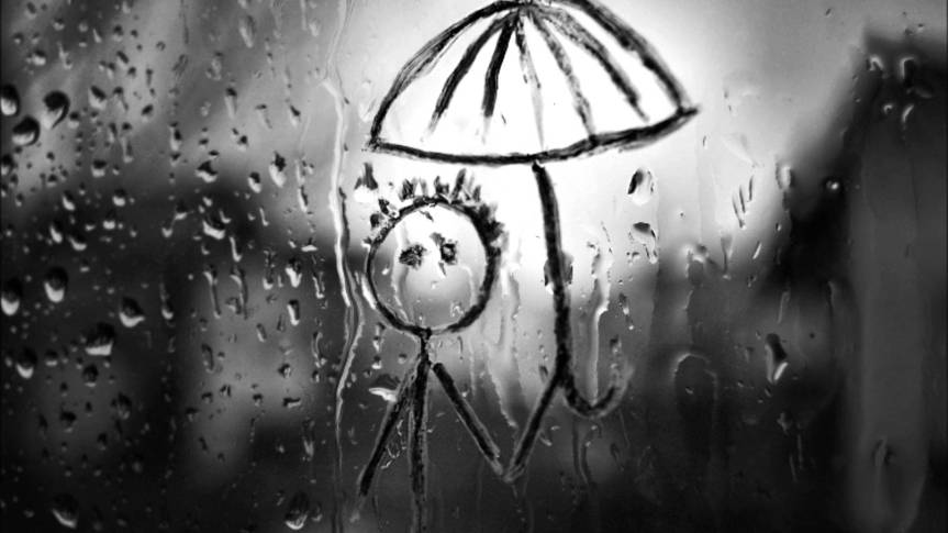 Rain Making me Sad yet also Content..